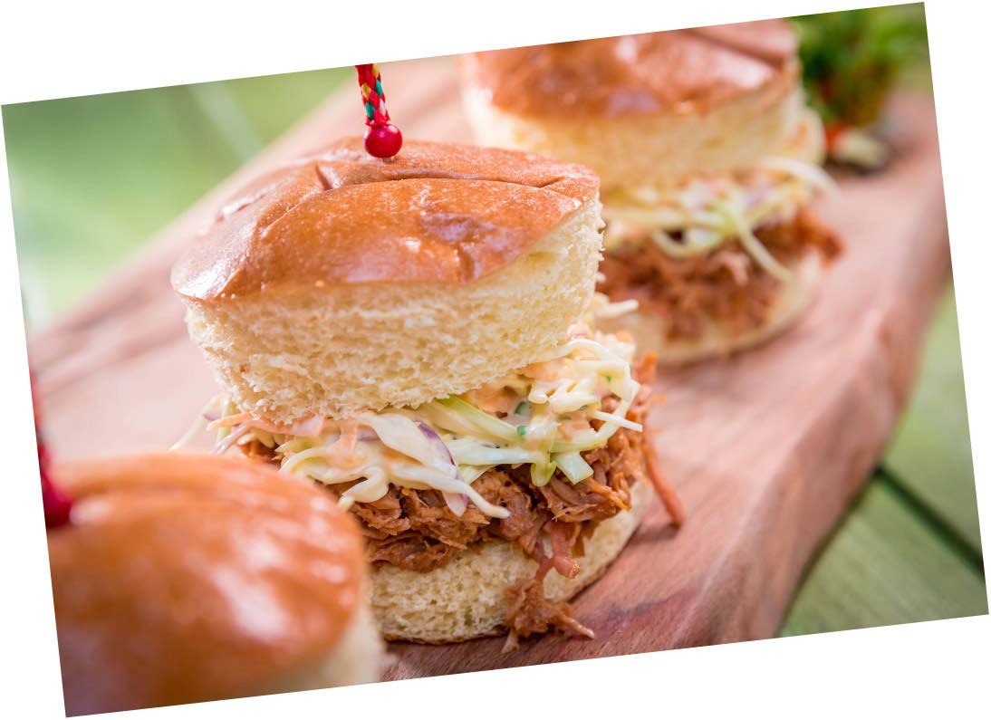 Shredded Pork Sliders